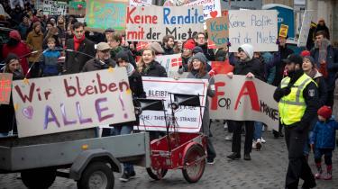 Store protester i december mod PFA i det berlinske kvarter Neukölln.