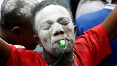 Tilhængere af oppositionskandidaten Felix Tshisekedi fejrer, at han omsider blev udråbt som vinder af DR Congos præsidentvalg den 30. december.