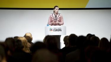 Mette Frederiksen fremhævede i en tale forleden nødvendigheden af EU-samarbejdet. Det er glædeligt, selv om det socialdemokratiske engagement i kampen for bl.a. miljø og mere social retfærdighed i EU lader noget tilbage at ønske