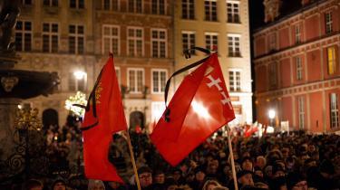 Demonstration mod had og vold i kølvandet påknivattentatet 13. januar på byens borgmester, Pawel Adamowicz, der skete midt under en livetransmission i bedste sendetid til millioner.