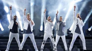Backstreet Boys optræder ved en koncert i Los Angeles i 2018.