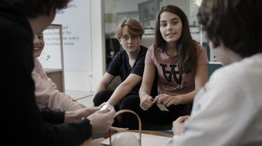 Skoleelever fra Virum Skole er troppet op hos Microsoft i Kongens Lyngby til en dag med workshops og oplæg om, hvordan man får danske unge til at være mere interesserede i teknologiske og naturvidenskabelige fag.