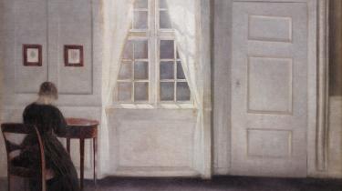 Velhelm Hammershøi, Stue i Strandgade med solskin på gulvet, 1901.