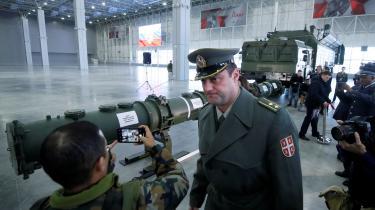 Det er Ruslands nye SSC-8 missiler, der har ført til USA's udtræden af INF-traktaten. Nato mener, at missilerne har en rækkevidde inden for de ifølge traktaten forbudte 500- 5.500 km, hvilket Rusland benægter. Her vises isenkrammet frem på det såkaldte Patriot Expo-center i Moskva.