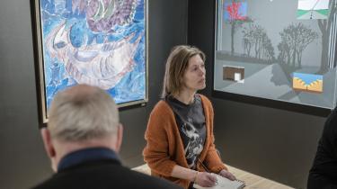 Blindtegning på Trapholt som kunstterapi.