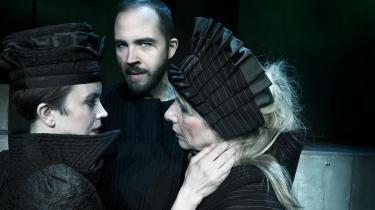 Jacque Lauritsen er udtryksfuld og overbevisende i rollen som Kong Lear på Teater Nordkraft. Foto: Karoline Lieberkind