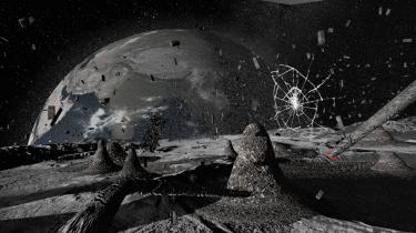 Det var særligt intenst at opleve Laurie Andersons VR-installation 'To the moon', der var en del af vinterens måneudstilling på Louisiana.