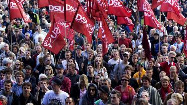 I en privat facebooktråd fra 2015 skrev mandlige medlemmer af Danmarks Socialdemokratiske Ungdom (DSU) krænkende beskeder om kvindelige medlemmer af ungdomspartiet. Arkivfoto