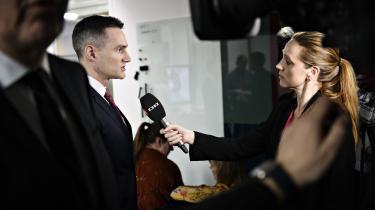 »Vi er gået langt, men det er også nødvendigt, hvis den danske finanssektor skal være og fremstå ren,« sagde erhvervsminister Rasmus Jarlov (K), da han onsdag præsenterede en aftale, der skal styrke tilsynet med finanstilsynet.