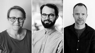 Jette Sindbjerg Martinsen, gymnasielærer.Felix Leszinski,ingeniør. Niels Villum Petersen,pædagog og illustrator.