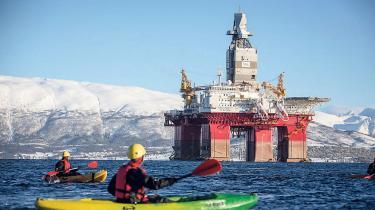 Greenpeace-protest mod Norges olieudvinding i Arktis.