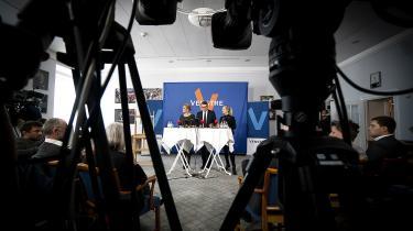 Det vakte opsigt, da tre Venstreministre tirsdag indkaldte pressen til et pressemøde med fokus på at fortælle, hvad konsekvenserne for udlændingepolitikken vil være, hvis Socialdemokratiet får magten.