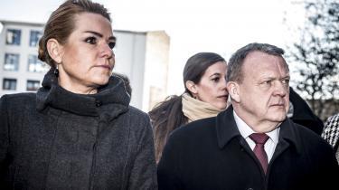 Statsminister Lars Løkke Rasmussen sammen medudlændninge- og integrationsminister Inger Støjberg.