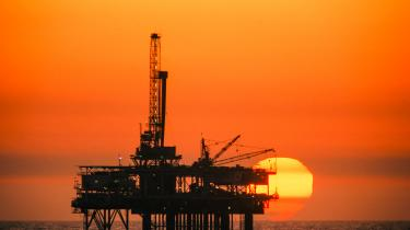Olieboreplatform ved Huntington Beach i Californien.