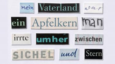 Herta Müller finder ikke ordene i sit eget hoved. Hun tager dem! Og gennem sine collager taler hun med andres ord