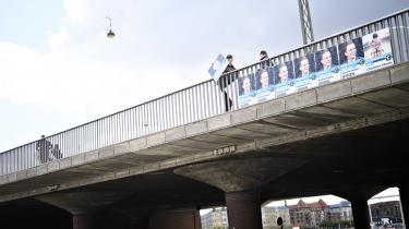 Kandidaterne til Europa-Parlamentet fik lige et par dages forsping til at sætte plakater op, inden folketingsvalget blev udskrevet.