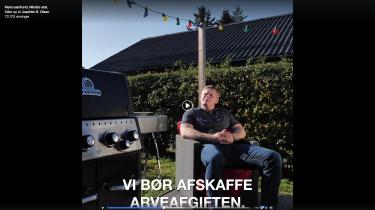 Skærmbillede fra Joachim B. Olsens kampagnevideo.