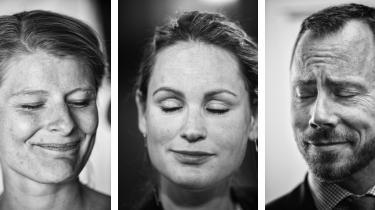 Ane Halsboe-Jørgensen (S), Pernille Skipper (EL) og Jakob Ellemann-Jensen (V).