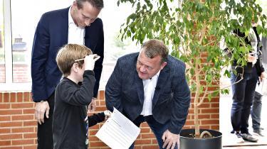 Statsminister Lars Løkke Rasmussen og finansminister Kristian Jensenbesøgte i sidste uge denmidtjyskefriskole Feldborg Frie Børneunivers, hvor de to præsenteredeVenstres nye friskolepakke.
