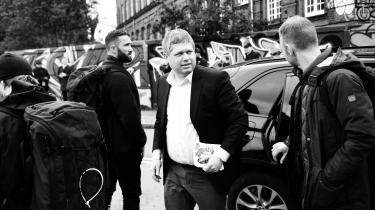 Rasmus Paludan demonstrerer på Christiania i København torsdag den 9. maj 2019.