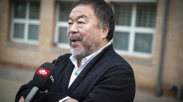 Ai Weiwei foran retten den 22. maj.