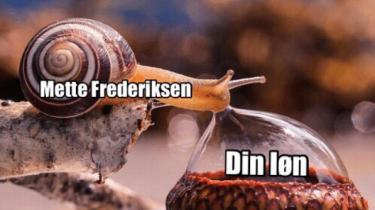 De Konservative har lavet en række memes under valgkampen – blandt andet denne, hvor Socialdemokratiets leder, Mette Frederiksen, er en snegl.