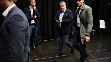 Alt for ofte beskrives pengene i statskassen som en given størrelse, mener Venstre-formand Lars Løkke Rasmussen, der her er på vej til debat med de øvrige partiledere i programmet 'Mads og Partilederne'.