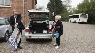 Information fulgte DF-kandidat fra GramTorbjørn Fristed til vælgermøde. Han kalder partiets valgresultat for 'en grim lussing'.
