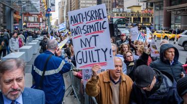 Demonstration foran New York Times.