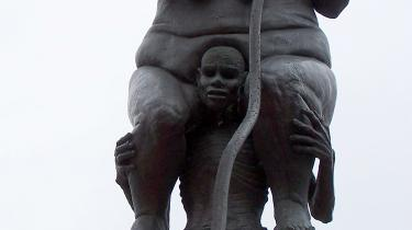 Jens Galschiøts skulptur 'Survival of the Fattest'