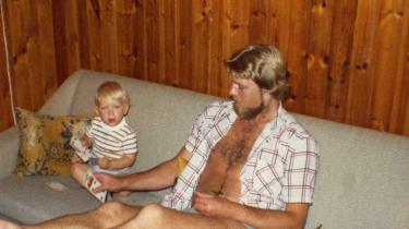 Per Bossen med sønnen Jacob. Forholdet til Ingelise gik i stykker, da Jacob var fire.