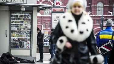 Rusland er på niveau med USA, hvad økonomisk ulighed angår. Sådan var det også under sovjettiden. Men det nye er, at russerne taler meget mere om det