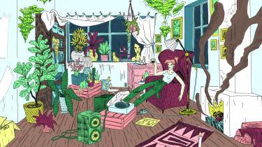 Line Høj Høstrup udgav tidligere på året 'Det rette element' , der handler om den energiske Ellen, som netop har købt et dejligt forfaldent gammelt hus.