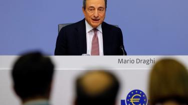 I sin tale i Frankfurt torsdag lagde Mario Draghi især vægt på, at inflationen i eurozonen – ligesom i bl.a. USA og Japan – ligger et godt stykke under det officielle mål.