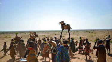 »Stigende befolkningstal og ændringer i indbyggernes forbrug af fødevarer, tøj og energi har skabt en belastning på arealer og ferskvand uden fortilfælde,« hedder det i klimapanelets seneste rapport. Her fremviser turkanakvinder i det nordlige Kenya husdyr, som er døde på grund af langvarig tørke.