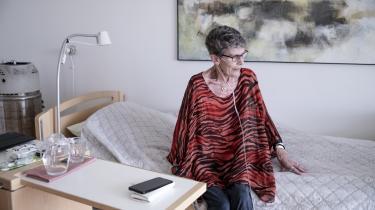 Første gang Lisbeth var på Svanevig Hospice, boede hun på stue 12, som hun kalder suiten. Den har nemlig udsigt ud over fjorden. I dag bor hun med udsigt til markerne.
