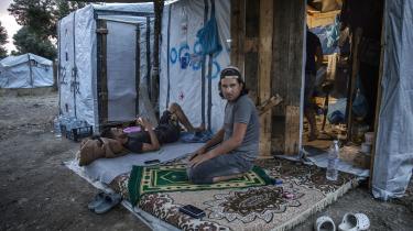 Billedet er fra en flygtningelejer på Lesbos og er fra juni 2019.