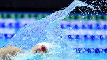 Sun Yang i 4 x 200 meter fri ved sommerens verdensmesterskaber i Sydkorea. Det var under medaljeoverrækkelserne, at protesterne imod dopingsnyderiet brød ud i lys lue.
