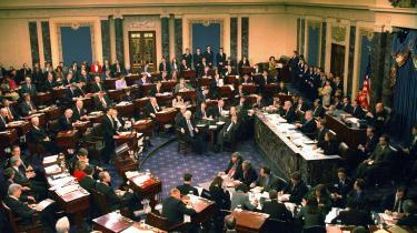 Sidste rigsretssag var i 1998, da Senatet stemte nej til at afsætte Clinton.