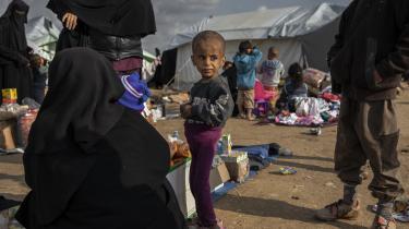 De danske børnog deres mødre i lejrene i det nordligeSyrienskal evakueres, skriver dagens lederskribent. Her ses et forældreløst barn i en flygtningelejr i det nordlige Syrien.