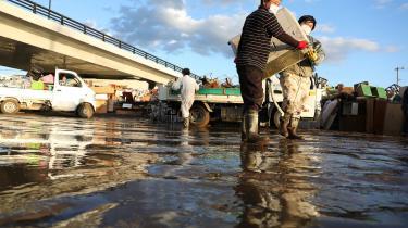 Ekstreme vejrhændelser er blevet hyppigere i Japan. Her ryddes op efter tyfonen Hagibis, som ramte Japan i oktober.