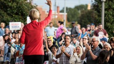 Hvis demokraterne skal besejre Trump til næste præsidentvalg i USA, må de entydigt stå på folkets side. Elizabeth Warren kan måske netop være kandidaten, som formår det.