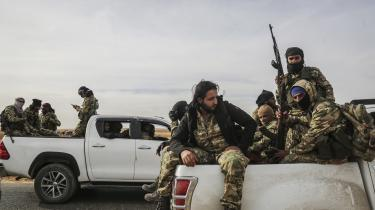 Syriens Nationale Hær blev skabt, da Tyrkiet samlede og reorganiserede de resterende hærgrupper fra oprørshæren Den Frie Syriske Hær. I dag kæmper soldaterne på Tyrkiets side.
