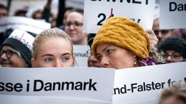 Tavs demonstration for Radio24syv foran Kulturministeriet før medieordførere mødes for at tale med kulturministeren om de klager, der er modtaget over behandlingen af ansøgninger til DAB-udbuddet, der gik til Radio Loud tirsdag den 5. november 2019.
