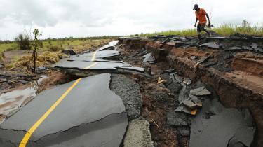 Cyklonen Idai ramte Mozambique i marts i år med oversvømmelser og store skader til følge.