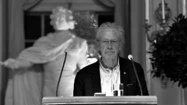 Peter Handke ved modtagelsesceramonien i forbindelse med Nobels litteraturpris.