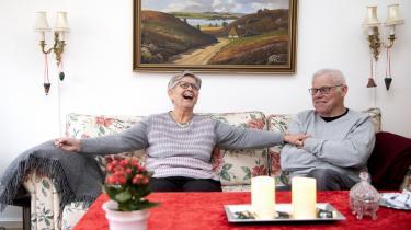 Ægteparret Bodil og Bent Tang-Jørgensen er tilflyttere fra Amager. »Alle her er simpelthen bare dejlige mennesker,« siger Bodil Tang-Jørgensen om Strandlund.