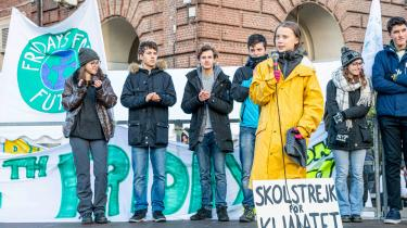 Greta Thunberg og den grønne ungdomsbevægelse har været med til at udbrede budskabet i FN's Klimapanels 1,5-gradersrapport. På billedet deltager Greta Thunberg ved en klimaaktion i Torino.