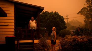 Nancy Allen og Brian Allen. Nowra, New South Wales, Australien. 4. januar 2020.