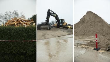 På byggepladsen i Everdrup er de grønne marker for længst revet op og erstattet af den bløde, brune jordbund, hvor Baltic pipe røret skal ligge.